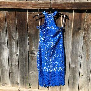 Halter dress, lace